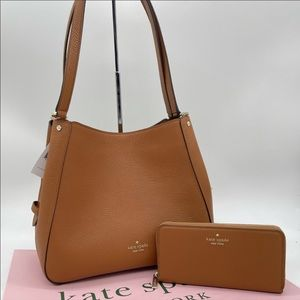 Kate Spade Leila Triple Shoulder Bag & Wallet